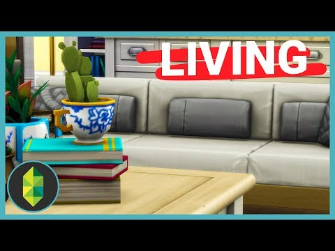 HUGE Family Living Room (Sims 4 Build)