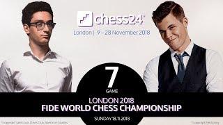 Carlsen-Caruana Game 7 - 2018 FIDE World Chess Championship