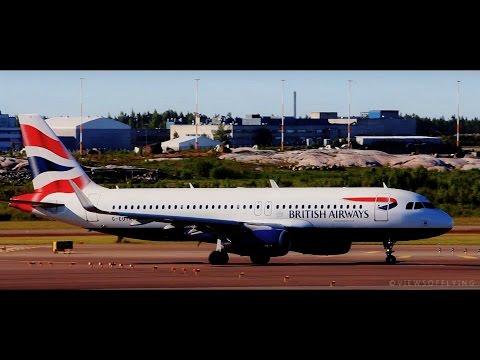 *Sharklets* British Airways A320 Takeoff from Helsinki + ATC! [HD]