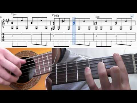 Tears in heaven - Eric Clapton guitar TAB(How to play)