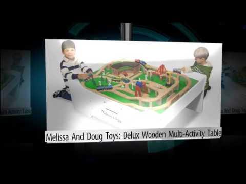 Melissa Doug Toys Deluxe Wooden Multi Activity Table Created Using Flixpresscom