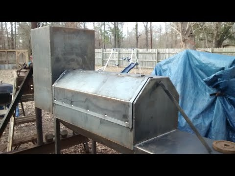 Custom off set bbq smoker build