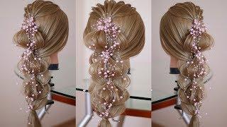 Коса на косе  Воздушная причёска Текстура рёбрышки.