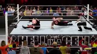 WWE 2K15 Undertaker vs Kane Gameplay [Xbox One]