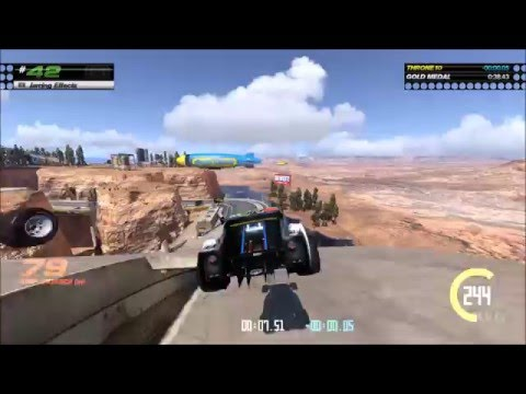 TrackMania Turbo - Canyon Grand Drift (White/Green/Blue/Red/Black Series) All Gold Medals (HD)