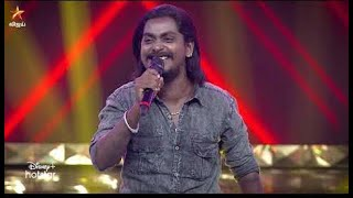 Gana Sudhakar Performance    Super Singer 8 Today Episode    Gana Sudhakar Ajith Song