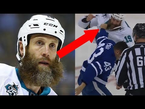 OUCH! Joe Thornton Gets His Beard RIPPED Off During Fight with Nazem Kadri