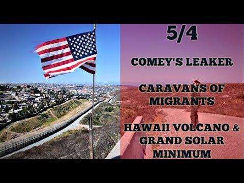 5/4 COMEY'S IN HOT WATER / CARAVANS OF PEOPLE / HAWAII VOLCANO