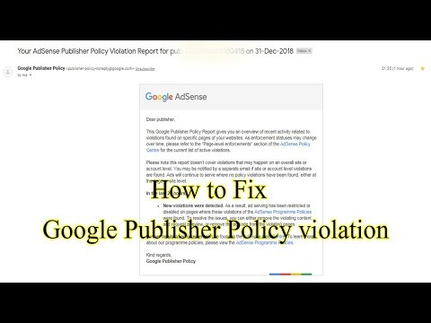 How to Fix - Google Publisher Violation Report ! in Hindi - YouTube