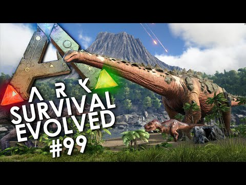 ARK: Survival Evolved - Episode 99 | TAMING A TITANOSAUR w/ Choco