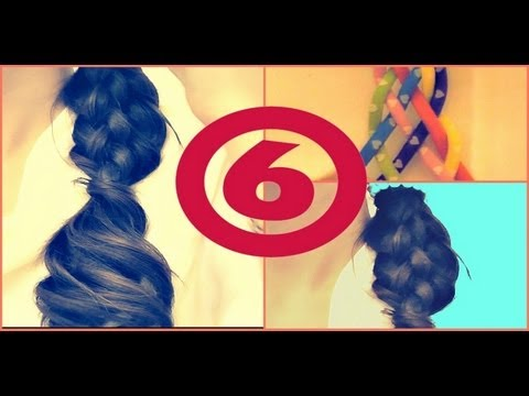 Hair Tutorial How To Cute Six 6 Strand Braid Hairstyles For
