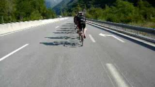 Nice Milan 2009. 1st Stage. Heading Towards the Climb of Col de Bonette