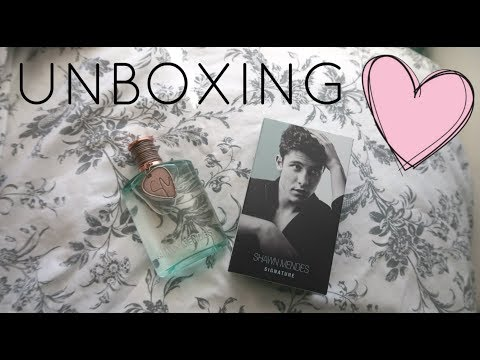 Unboxing Signature by Shawn Mendes ♡