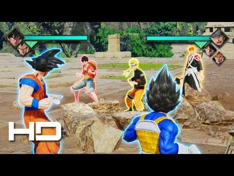 Frieza is initially confronted by goku, later joined by trunks, luffy, naruto and many other characters. Goku Vegeta Meet The Big 3 Naruto Luffy Ichigo Jump Force Youtube