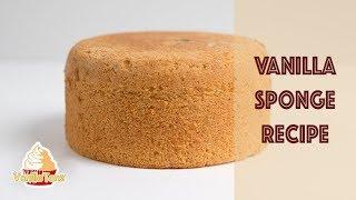 🍰 Super Rezept für einen hohen Vanillebiskuit ❤️