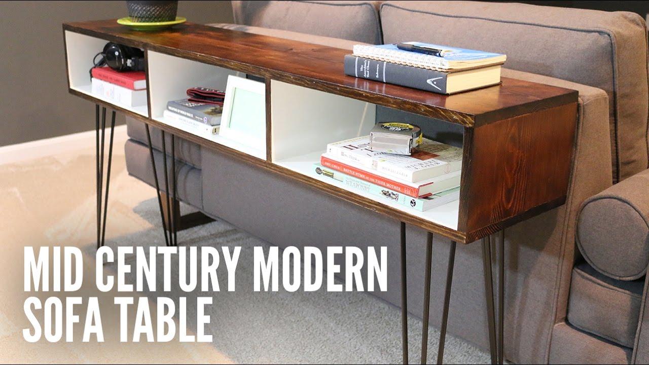 Build a Mid-Century Modern Sofa Table - YouTube