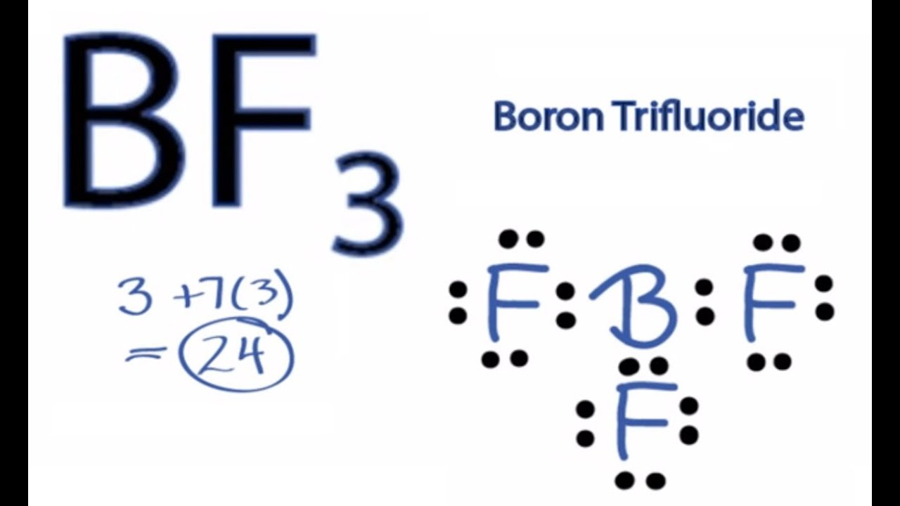 bf3 lewis structure how to draw the lewis structure for bf3 [ 1280 x 720 Pixel ]