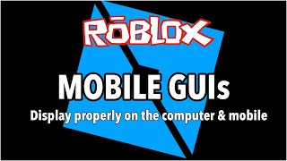 Roblox Studio GUIs for Computer and Phone and Custom Health Bar