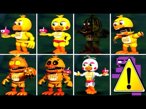 Five Nights at Freddy's 1 2 3 4 5 6 ALL CHICA ANIMATRONICS *FNAF 2018*
