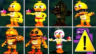 Five Nights at Freddy s 1 2 3 4 5 6 ALL CHICA ANIMATRONICS FNAF 2018