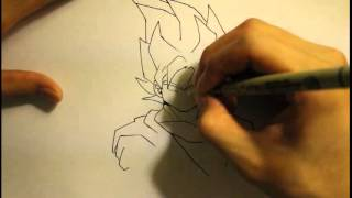 How To Draw Super Saiyan Goku|Step By Step|Easy|For Beginners|Slow|Full|ssj|Eyes|1 2 3 4