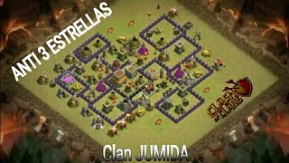 Base de guerra para th8(anti 3)-Clash of Clans#8-*Clan JUMIDA*