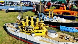 RC BOAT SHOW - GIANT (SIT INSIDE) BATTLESHIPS SOUTHERN HEADCORN MODEL SHOW - 2016
