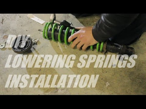 How to install lowering springs on original shocks