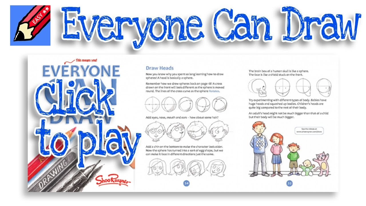 everyone can draw learn to draw the easy way youtube