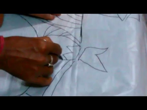 how to draw jamini roy painting on a stressing paper