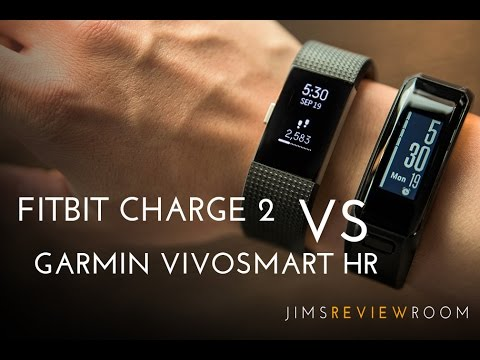 Fitbit Charge 2 vs Garmin VivoSmart HR - COMPARISON