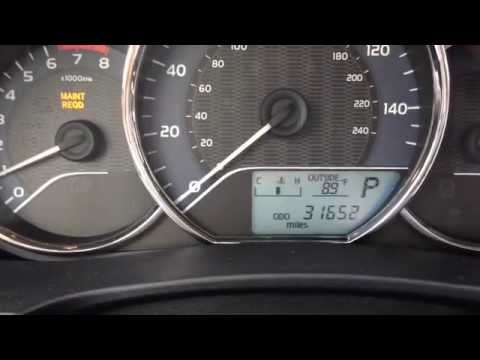 How To Turn Off Maintenance Required Light Toyota Corolla