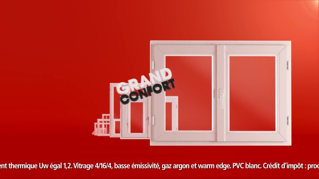 Brico d p t fen tre pvc blanc youtube for Fenetre pvc renovation brico depot
