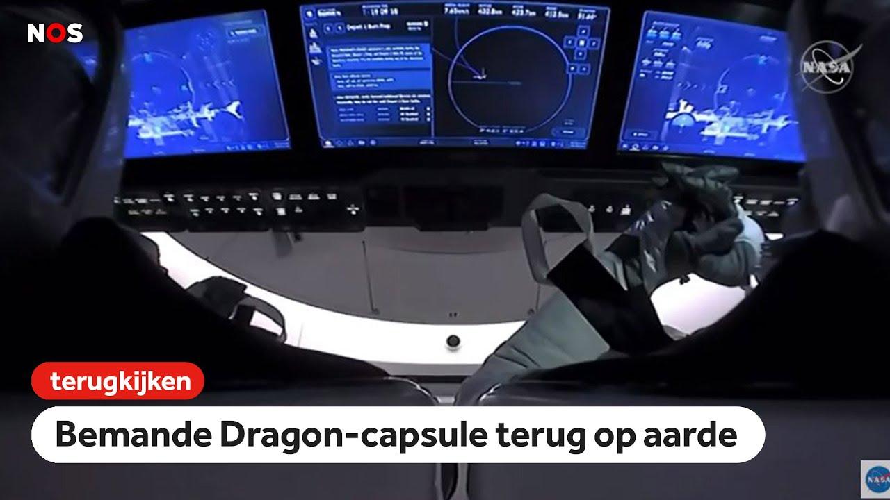 TERUGKIJKEN: Astronauten landen met nieuwe Dragon-capsule
