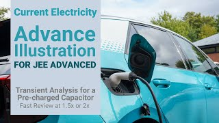 8. Physics   Current Electricity   Transient Analysis for a Pre-charged Capacitor   Ashish Arora
