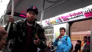 SUBWAY FIGHTS YOU ARE AN EMBARRASSMENT FIGHT VIDEO ON SUBWAY TRAIN