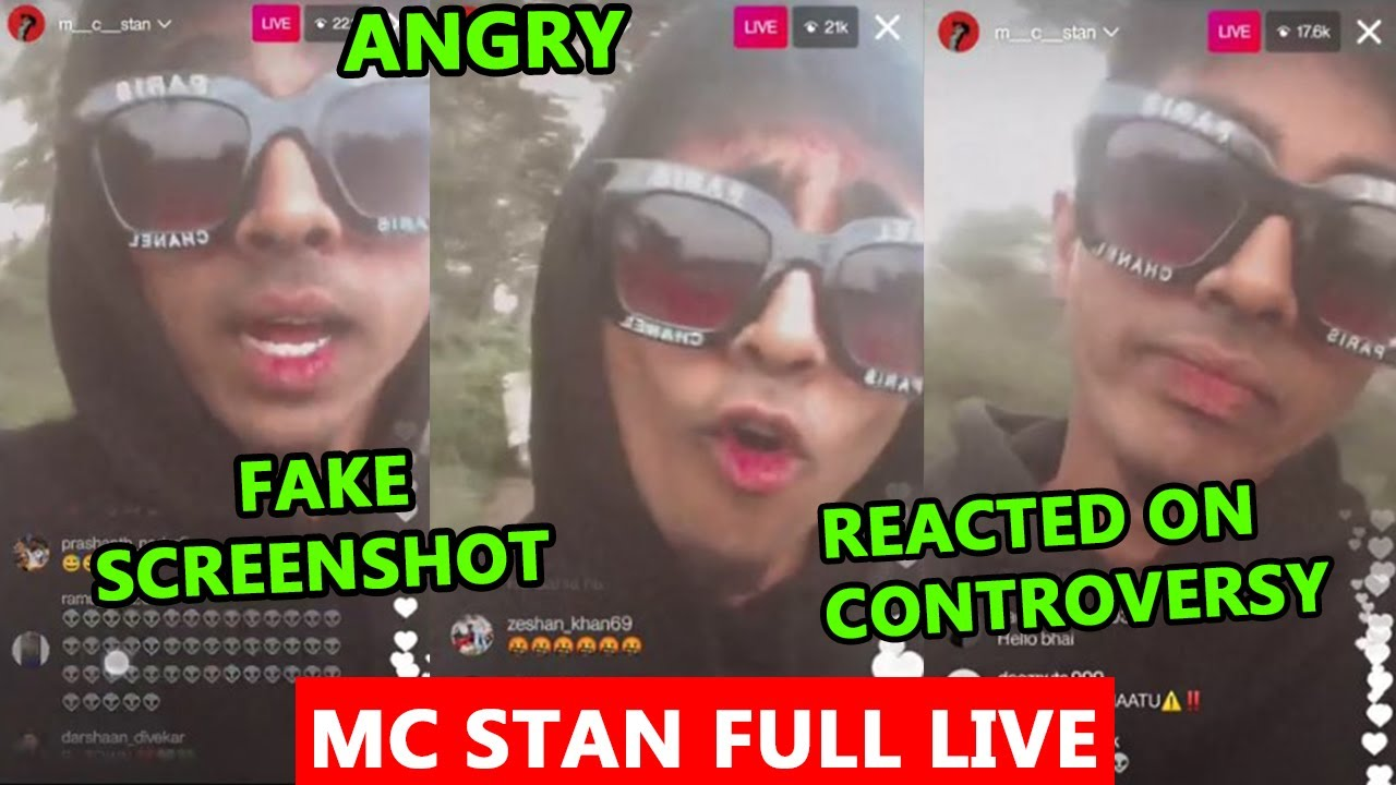 MC STAN REACTED ON CONTROVERSY   ANGRY ON NEWS CHANNELS   MC STAN FULL LIVE