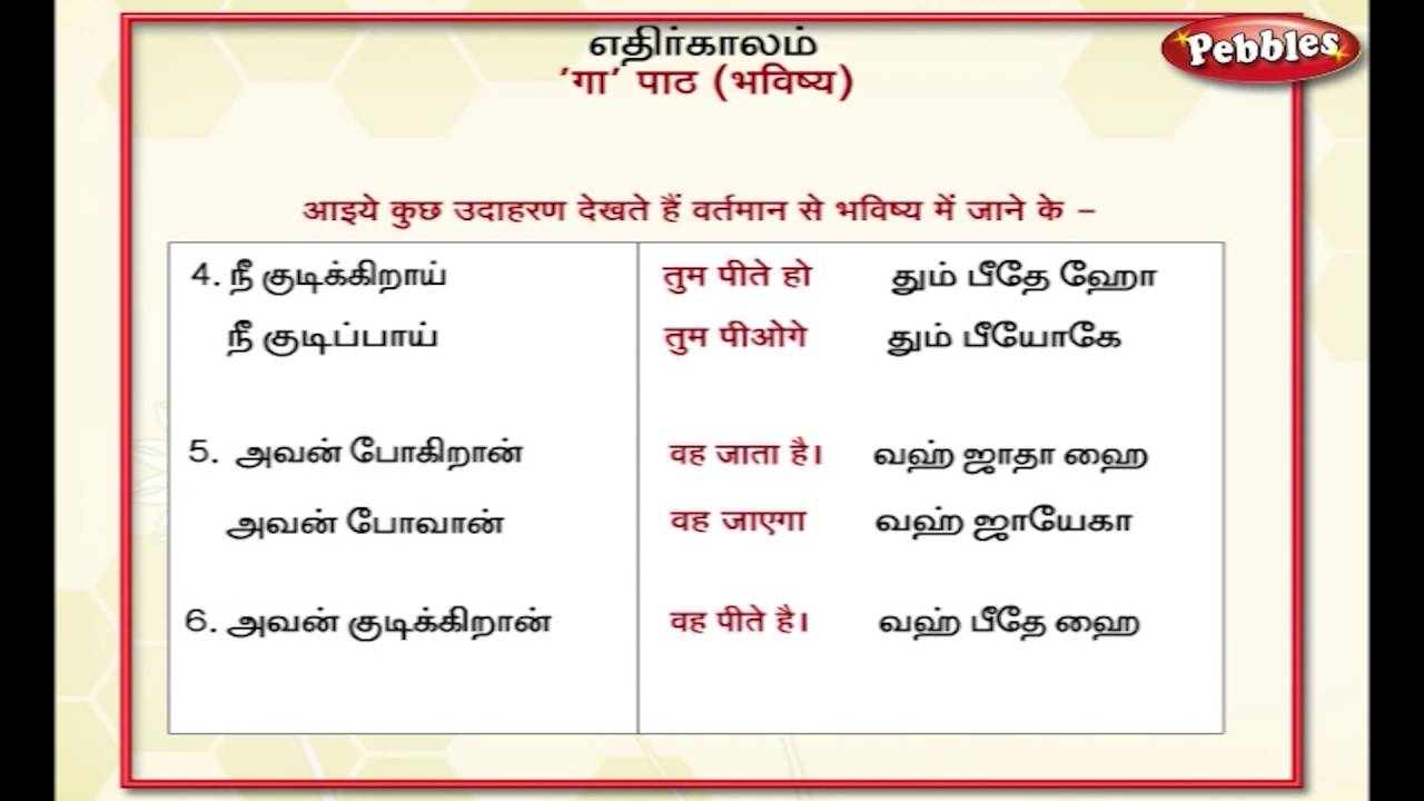 Format tamil pdf through spoken hindi