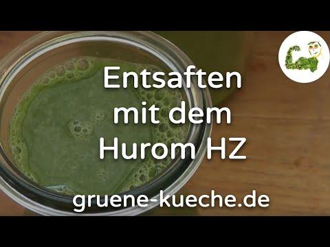 Hurom HZ Slow Juicer Teil 2 - Zutaten entsaften