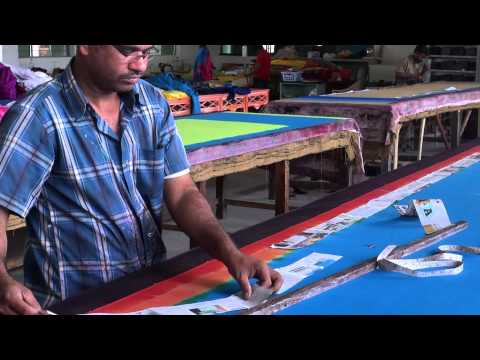 Saree printing process