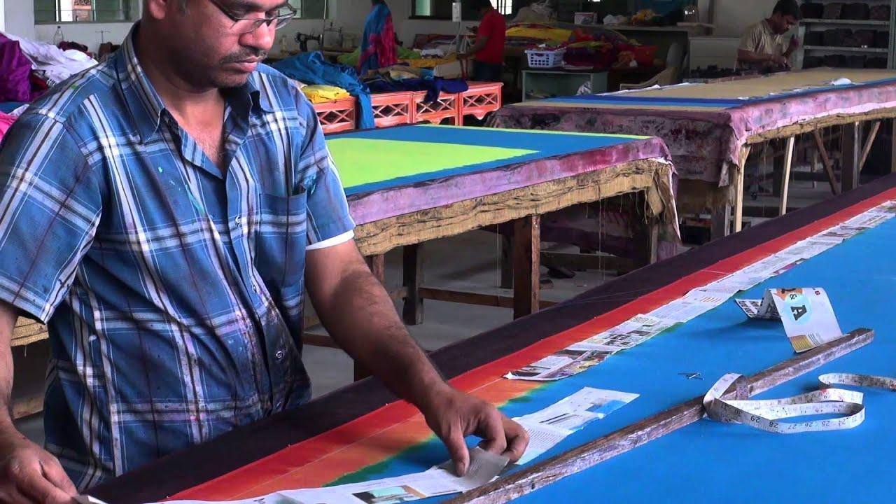 Saree printing process