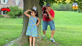 Sally Play HIDE and SEEK with DAD - Family fun games
