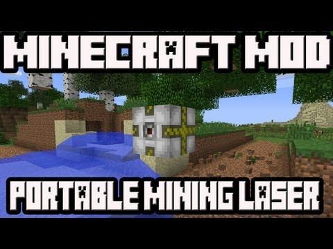 Minecraft 1.4.7 Mod Portable Mining Laser!