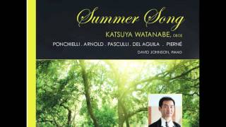 Miguel del Aguila SUMMER SONG for oboe and piano (begin) Katsuya Watanabe, Japan/Profil Germany