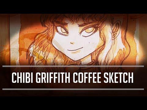Berserk Chibi Griffith Coffee Sketch