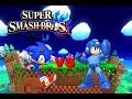 Super Smash Bros Wii U - Sonic vs Mega Man
