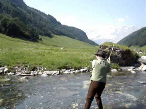 Flyfishing in Switzerland- trout and cowbells and fly fishing