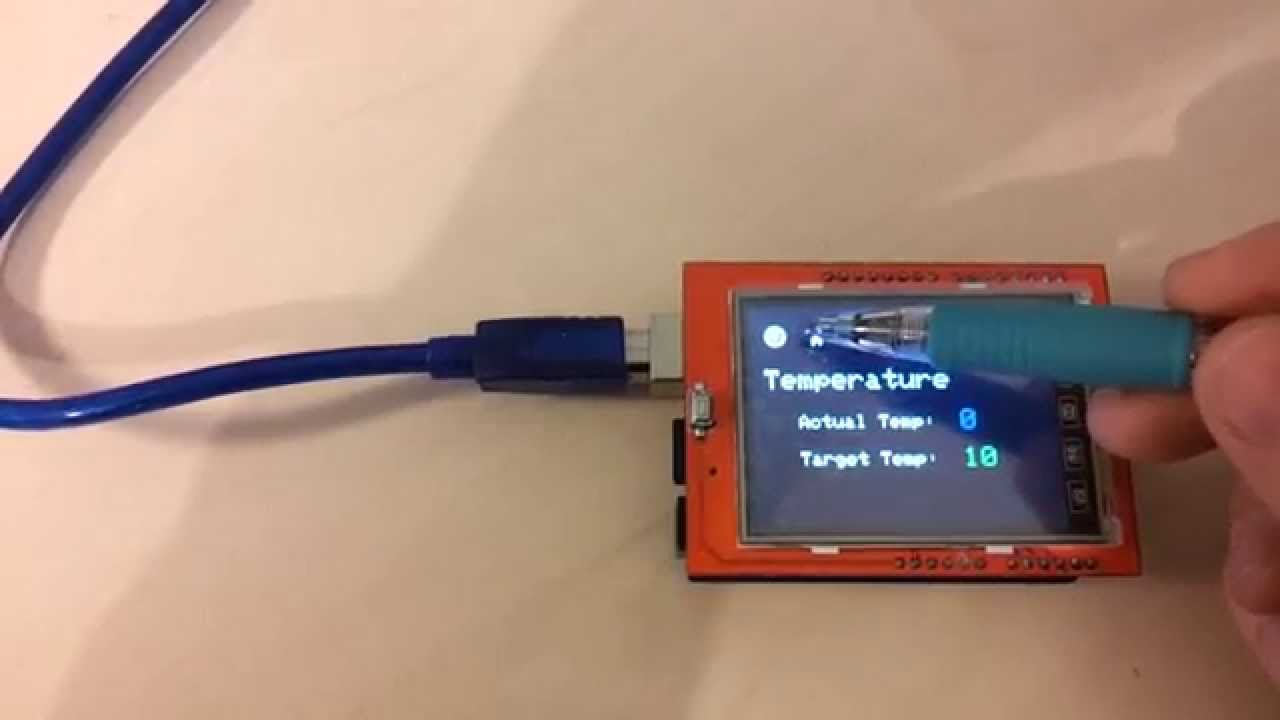 rdepablos - Arduino 2 4'' TFT with touch menu