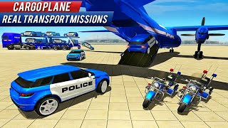 US Police Car Transporter: Trailer Truck Driver 3D Game 21 - Android Gameplay screenshot 5