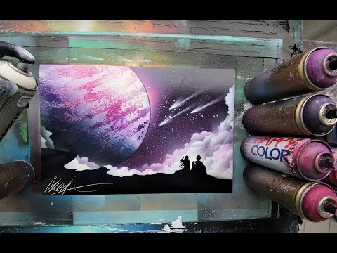 4ever on cloud 9 - SPRAY PAINT ART - by Skech